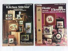 State Flowers Leaflet 178 Kitchen Stitchin' Leisure Arts 157 Cross Stitch Craft