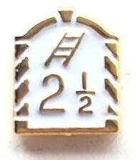 Orange Lodge 2 1/2 White Small Enamel Lapel Pin Badge