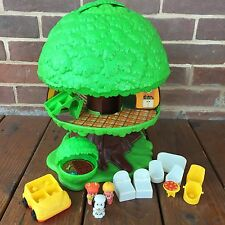 Vintage Kenner Tree Tots Tree House Treehouse Playset Dog Kennel Swing 1975