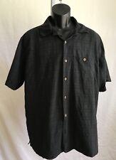 TRAVELSMITH Men's Black Full Button-Down Dress / Casual Shirt Top SZ L