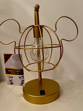 DISNEY MICKEY MOUSE HEAD GOLD  LIGHT LAMP BEDSIDE TABLE LAMP PRIMARK