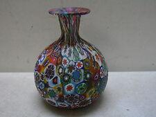 VINTAGE MURANO ITALY ITALIAN ART GLASS VENETIAN MILLEFIORI HAND BLOWN VASE