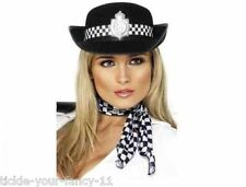 WOMENS POLICEWOMAN HAT WPC POLICE WOMAN FANCY DRESS COP HEN DO NIGHT SEXY