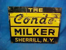 1940s The CONDE Dairy MILKING EQUIPMENT Tin Litho DAIRY SIGN