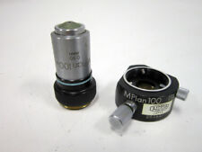 OLYMPUS M PLAN 100X 0.90 MICROSCOPE OBJECTIVE MPLAN 100 WITH 201627 SPACER