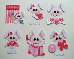 3D- U Pick- Love  Bunny Chick Ladybug Mice Bee Paper Embellishment