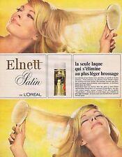 PUBLICITE ADVERTISING 045 1965 L'OREAL Elnett satin