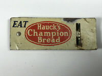 Antique Hauck's Champion Bread Tin Litho Bakery Toy Whistle Advertising
