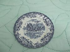 "Johnson Bros ironstone  6.25"" Coaching scenes dessert bread plate - estate sale"