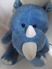 "NWT 30"" Whimsical Friends Jumbo Stuffed Rhinoceros (Blue) Free Shipping !!!"