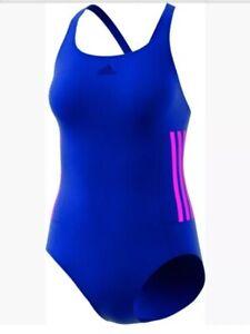 adidas Infinitex 1 piece Swimming Costume Blue BNWT free UK Delivery BP9529