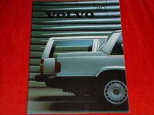 VOLVO 740 Limousine und Kombi GL GLE Turbo Prospekt von 1986