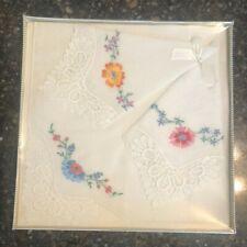 Vintage Handkercheif's embroidered