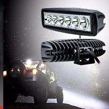 2pcs 2000LM 18W CREE LED Work Light 6 Inch Bar LED ATV SUV Floodlight Hunting