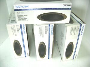 "KICHLER 6"" Recessed Light  Olde Bronze Flat Trim Kit & Black Baffle Box of 4"