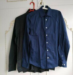 "River Island  Men's 2 Stretch Slim Fit Shirts Size XS 13.5"" Collar"