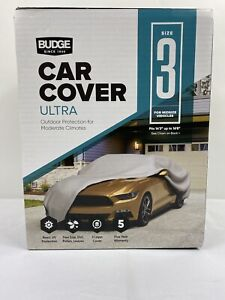 Budge Size-3 Ultra UV and Dirt Protector Car Cover for Midsize Cars
