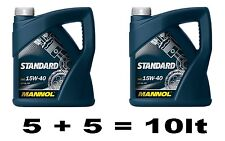 15w40 MANNOL STANDARD OIL 5 + 5 = 10 LITRES PETROL & DIESEL SL/CF SPEC