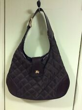 Burberry Quilted Fabric and Leather Hobo bag in Brown c1c4c280e1a8e