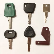 6pc Construction Ignition Keys heavy equipment key set For volvo Equipment
