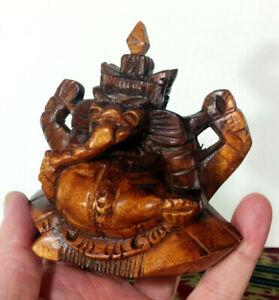 Ganesh, God of New Beginnings, Success, Wisdom, Strength, Hard Wood Bali Statue