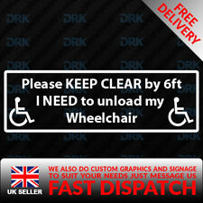 KEEP CLEAR DISABLED WHEELCHAIR ACCESS Car Van Bumper Window Vinyl Decal Sticker