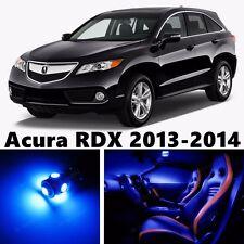 12pcs Blue LED Light Interior Package Kit for Acura RDX 2013-2015