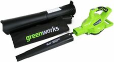 Greenworks 40V 185 MPH Variable Speed Cordless Leaf Blower/Vacuum, Battery No...
