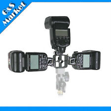 All-metal Tri-Hot Shoe Flash Stand Adapter Bracket Mount Trigger umbrella holder