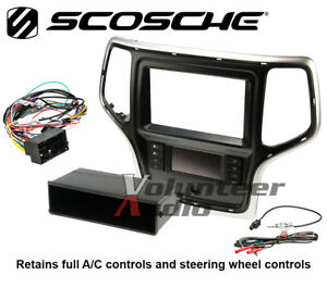 Scosche CR1309TB Tan Single/Double Din Install Kit For 2014-Up Grand Cherokee