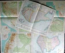 John Bartholomew 1922 Lot of 7 Large Maps of Australia