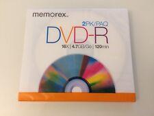 Memorex DVD-R 2pk New Sealed