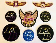 Kobe Bryant Patch KB Patch MAMBA 8PC Basketball Wing Jersey Embroidered Iron On