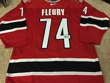 THEO FLEURY Red 2002 Signed Team Canada Game Authentic PRO NEW Hockey Jersey
