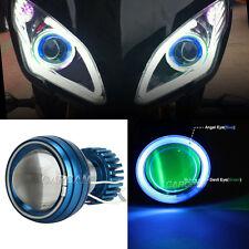 2x Headlights Blue Halo Green Demon eyes For Kawasaki ZX6R 636 10R 650R Ninja EX