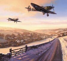 TRUDGIAN AVIATION ART Winter of '41 RAF Spitfire Dunkirk Plane & ROBERT TAYLOR