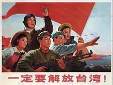 GUERRA di propaganda comunismo la Cina Taiwan RED FLAG Poster Art Print cm 30x40 bb2793b