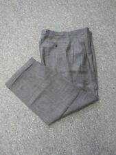 ZANELLA Black White Pleated Zip Front Cuffed Hem Dress Pants Slacks Sz 34 EE5842