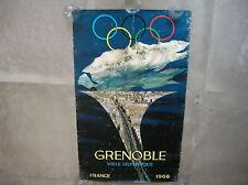 Affiche GRENOBLE VILLE OLYMPIQUE -1968 - A RESTAURER -