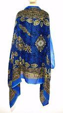 Stola Sciarpa Foulard Bollywood INDIANO Dupatta Shawl tessuto BENARES Goa Hippie