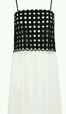 Bnwt * Coast * Size 8 Black & White Ruby Sue Dress Cocktail Evening Cruise New