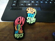 """NEW KIDS ON THE BLOCK LOGO STEP BY STEP IRON ON  PATCH 2-3/4"""" BY 4-1/2"""" DATED"""