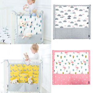 Cot Tidy Baby 100% Cotton Organiser Bed Nursery Hanging Storage 9 Pockets