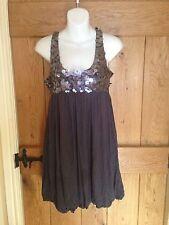 Sequin Round Neck Sleeveless Dresses Midi