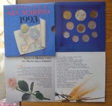 SERIE SAN MARINO 1993 CONFEZIONE MONETE FDC 1000 LIRE SILVER ARGENTO SUBALPINA
