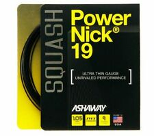 Ashaway Powernick 19 Black Squash Racket String - 9m Set