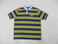 Ralph Lauren Polo Shirt Adult Extra Large Blue Yellow Crest Rugby Mens B31