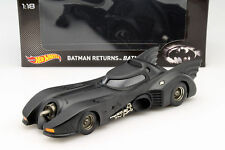 Batmobile dans le film BATMAN RETURNS 1992 noir 1:18 HotWheels