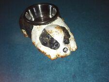 More details for large cast iron dog shaped bowl old english sheepdog