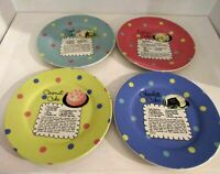 Pot Luck By Rosanna Set of 4 Dessert Plates CAKE RECIPES